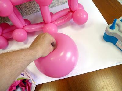 формовка воздушного шара для панно