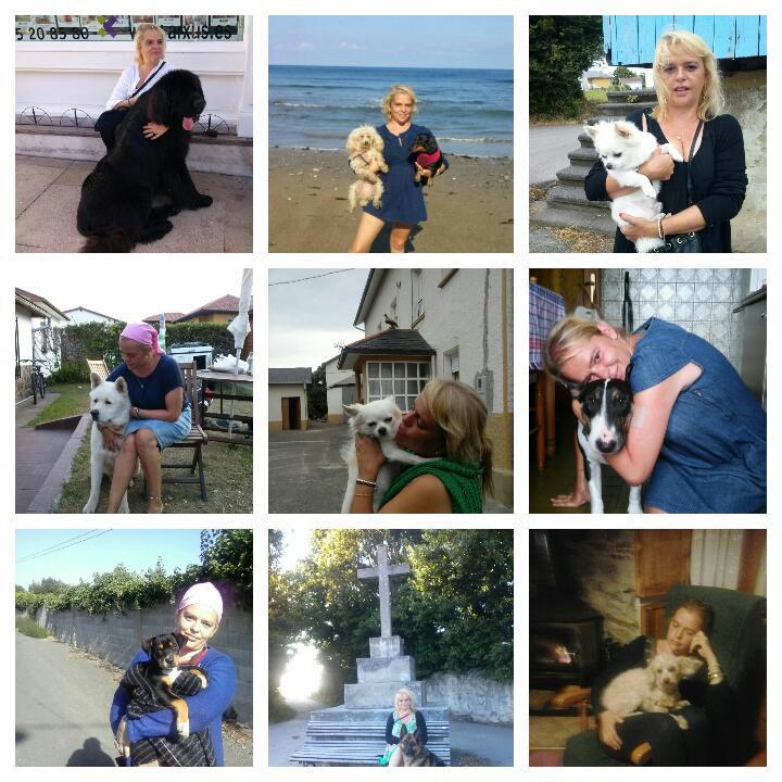 Mi cuñada y su afición por los perros.