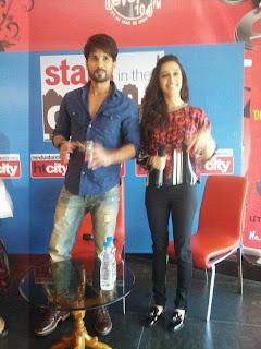 Shahid Kapoor with Shraddha Kapoor at Delhi stars in the city (5).jpg