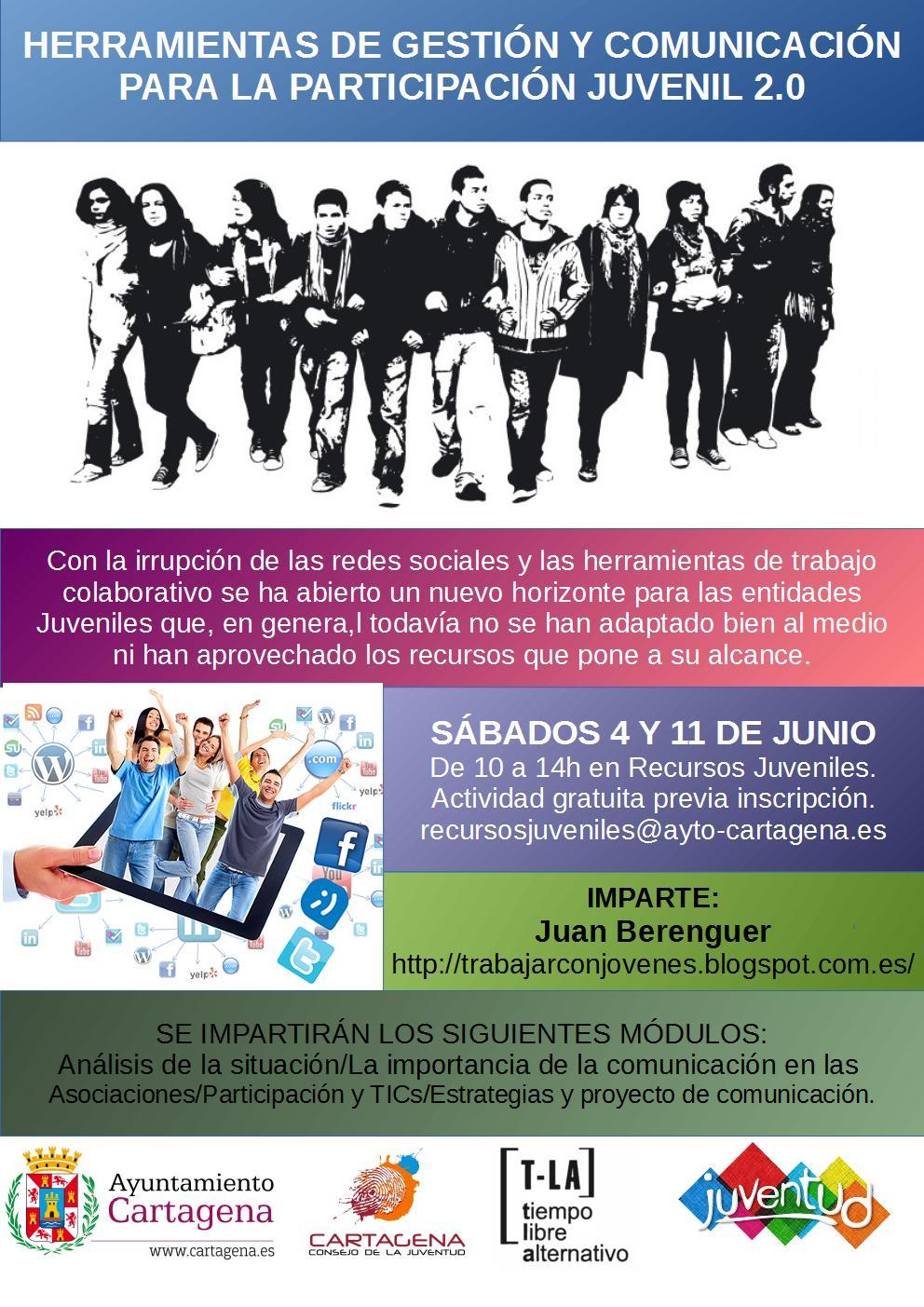 Curso de Herramientas de Gestión y Comunicación 2.0 para la Participación Juvenil