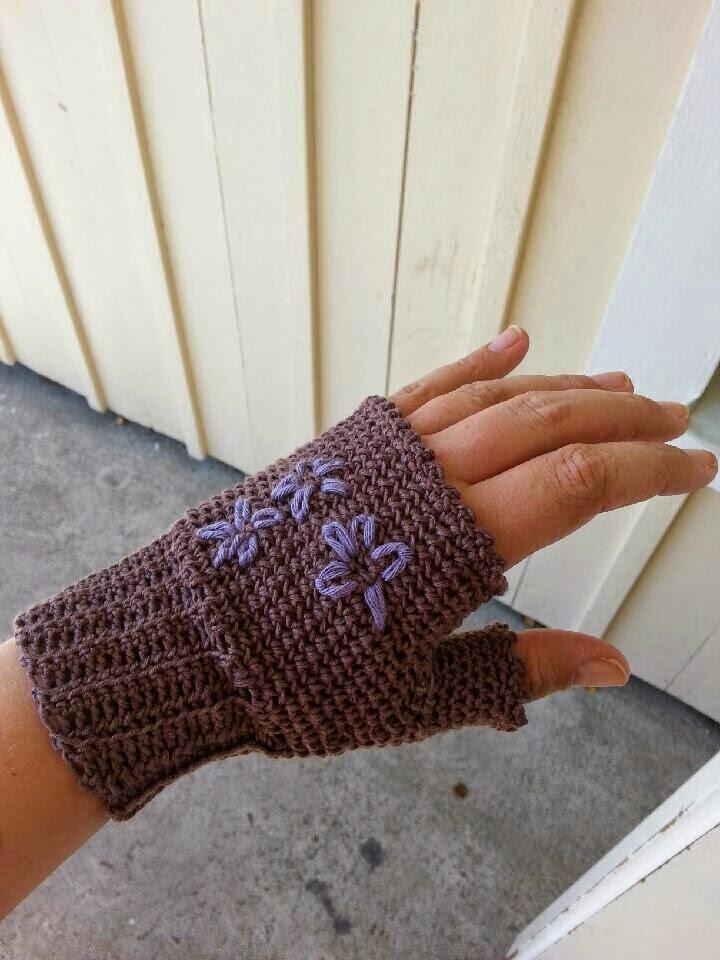 virka torgvantar handledsvärmare crochet hand warmers