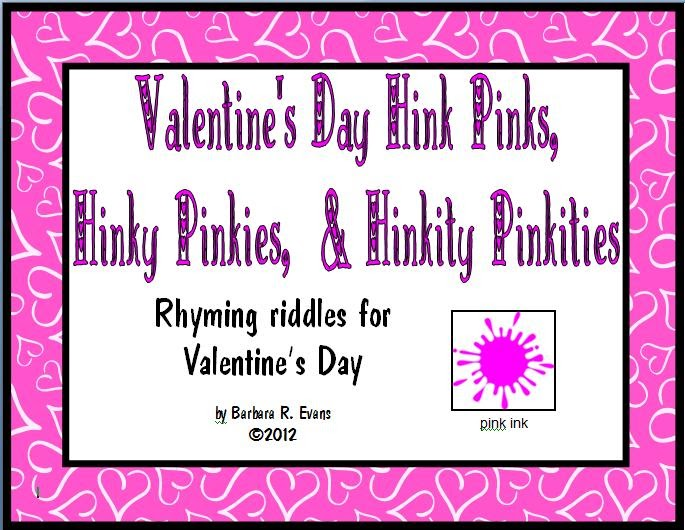 Its About Time Teachers Valentines Day Hink Pinks Freebie – Hink Pink Worksheets