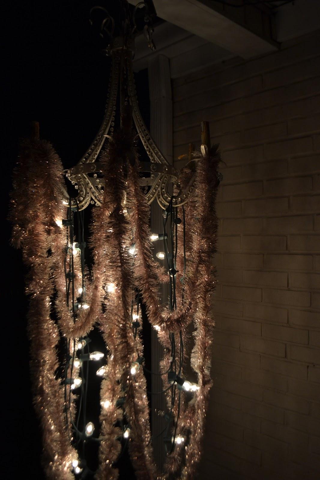 vintage chandelier porch lighting