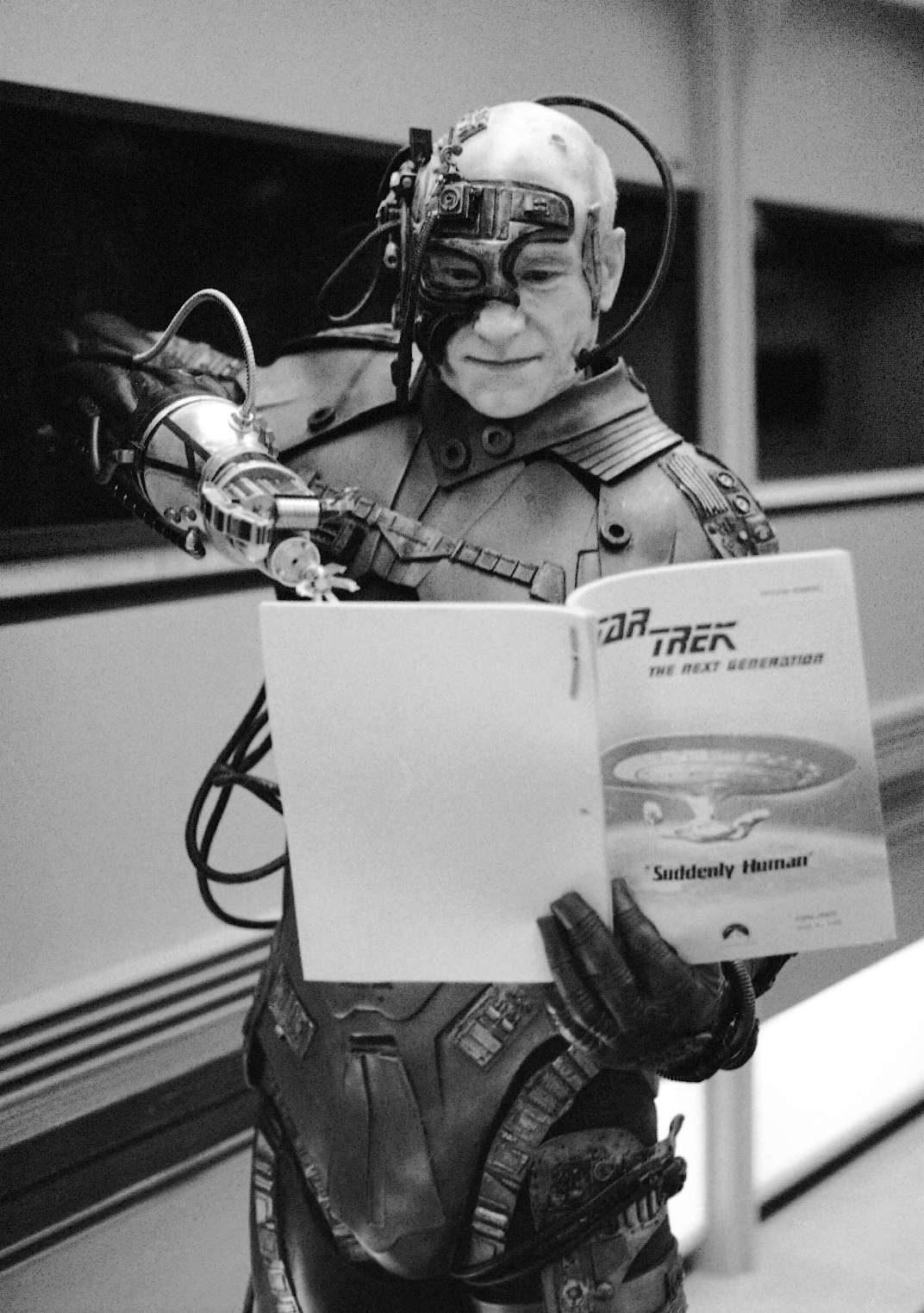 Patrick Stewart, In Costume As Locutus Of Borg, Looks Forward To The Next  Script