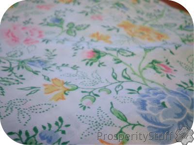 Vintage Sheet - spring roses