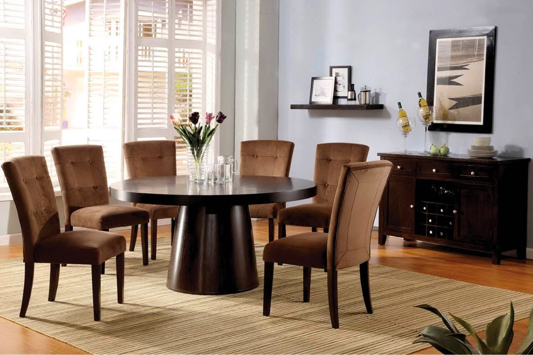 60 round dining table wooden