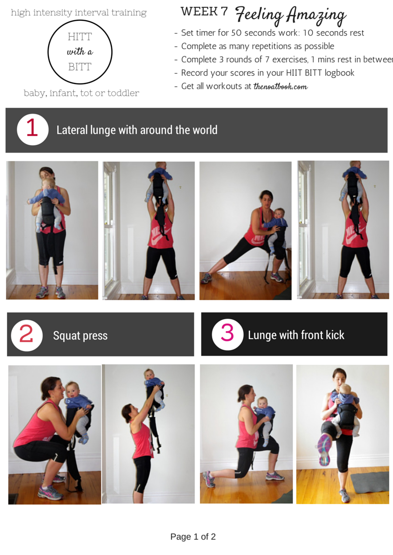 Working out with your baby HIIT workout plan Week 7