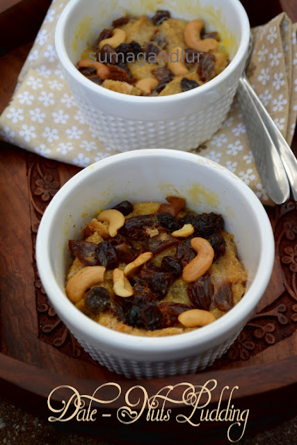 Microwave Dates – Nuts Bread Pudding