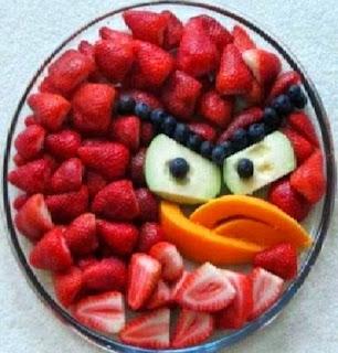 Frutas con Forma de Angry Birds, Ideas para Fiestas Infantiles