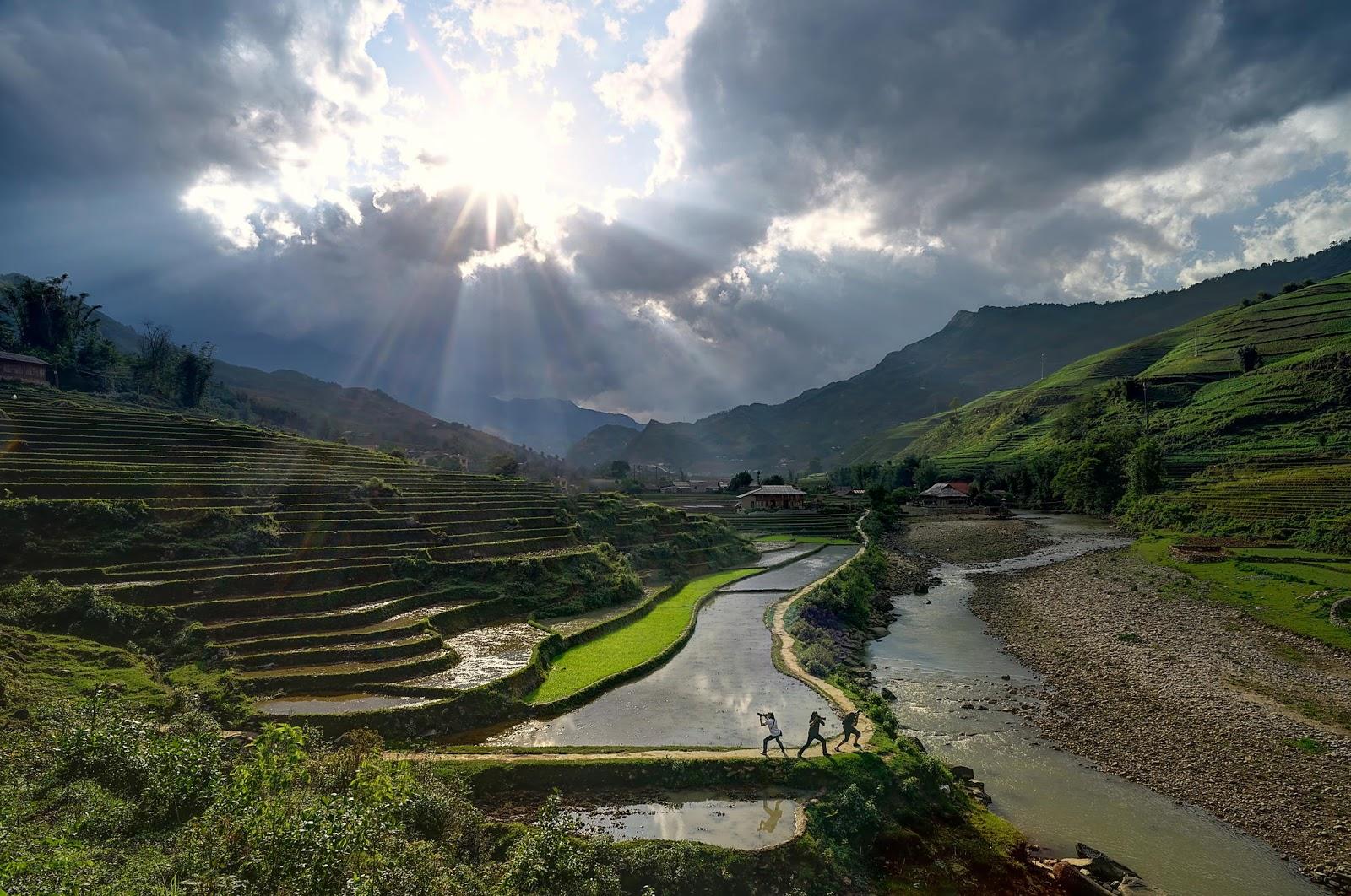 Terrazas de arroz en vietnam paisajes y jardines pinterest - Paisajes de jardines ...