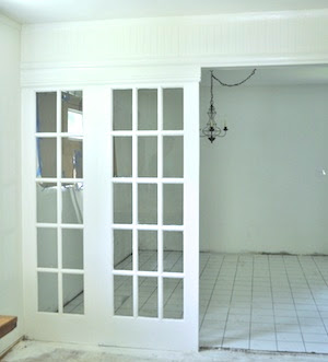 French doors as room dividers
