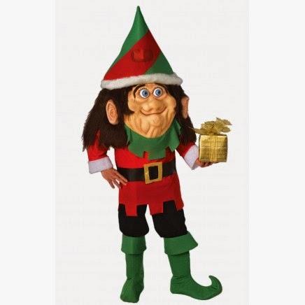 Disfraz Elfo Navideño Cabezudo