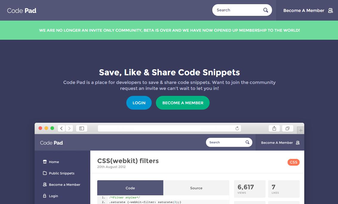 Code Pad Snippet Compartir Codigo