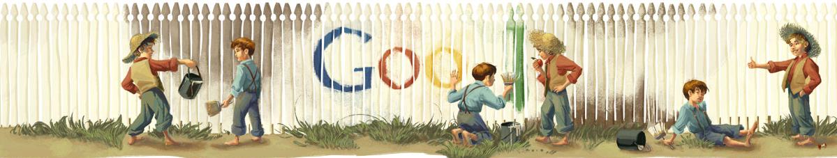 Google - 176 ani de la nasterea lui Mark Twain