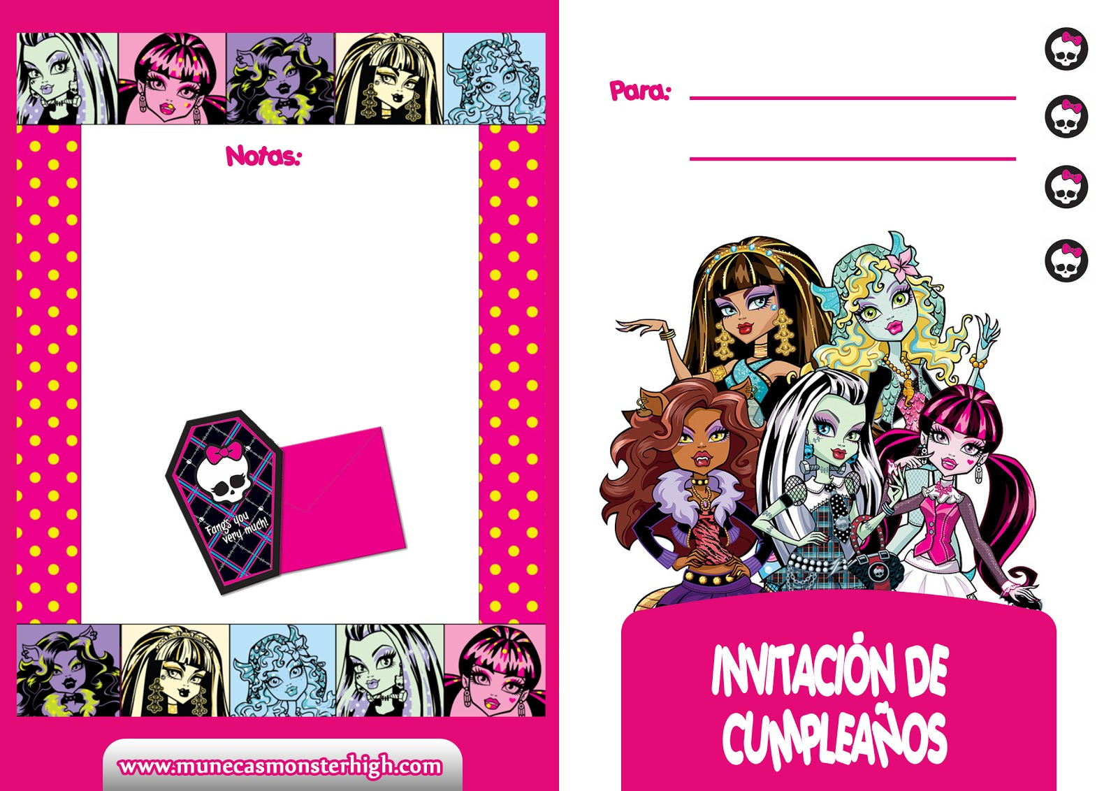 Invitaciones De Plea  Os Monster High Para Imprimir