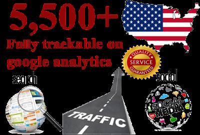 5500 USA web Traffics from Social Media Networks