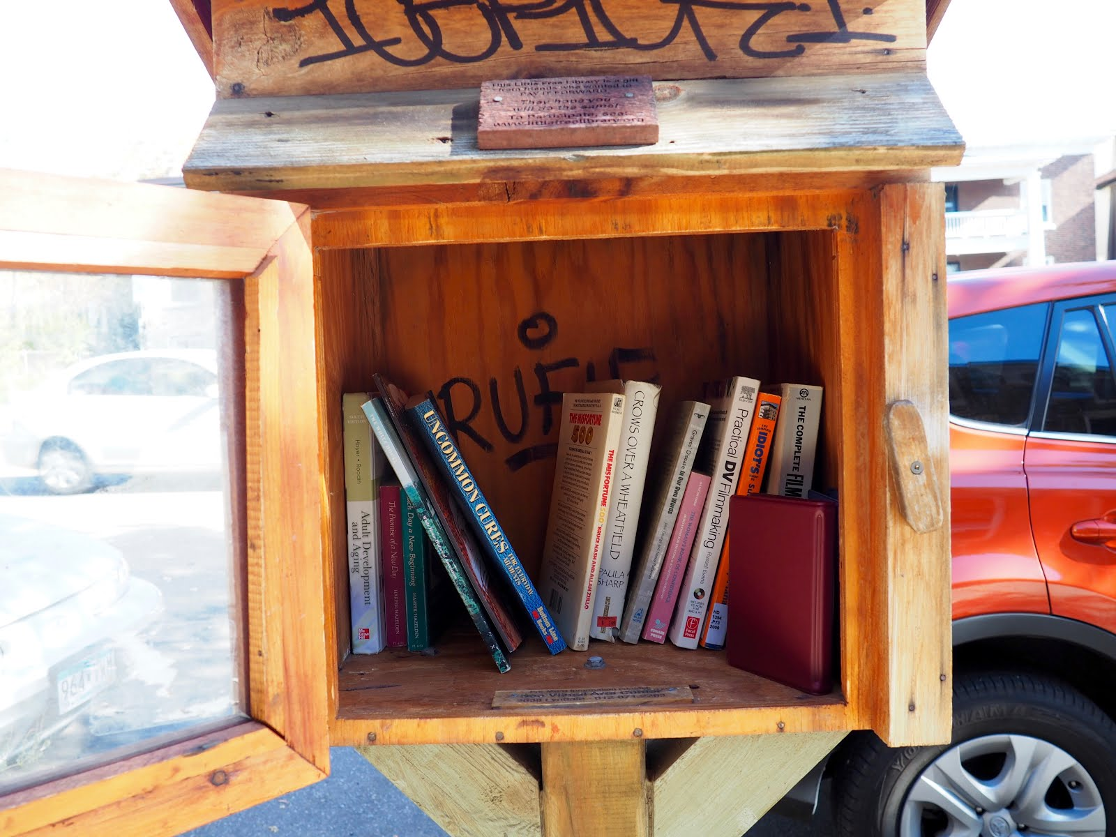 Little Free Library Must in Urban Setting.