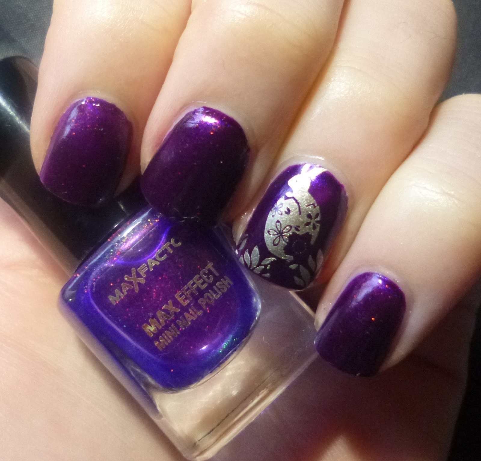 On Top Of Purple I Layered Just One Coat The Much Coveted Max Factor Fantasy Fire It Is Lovely To Look At But Terrible Take Pictures