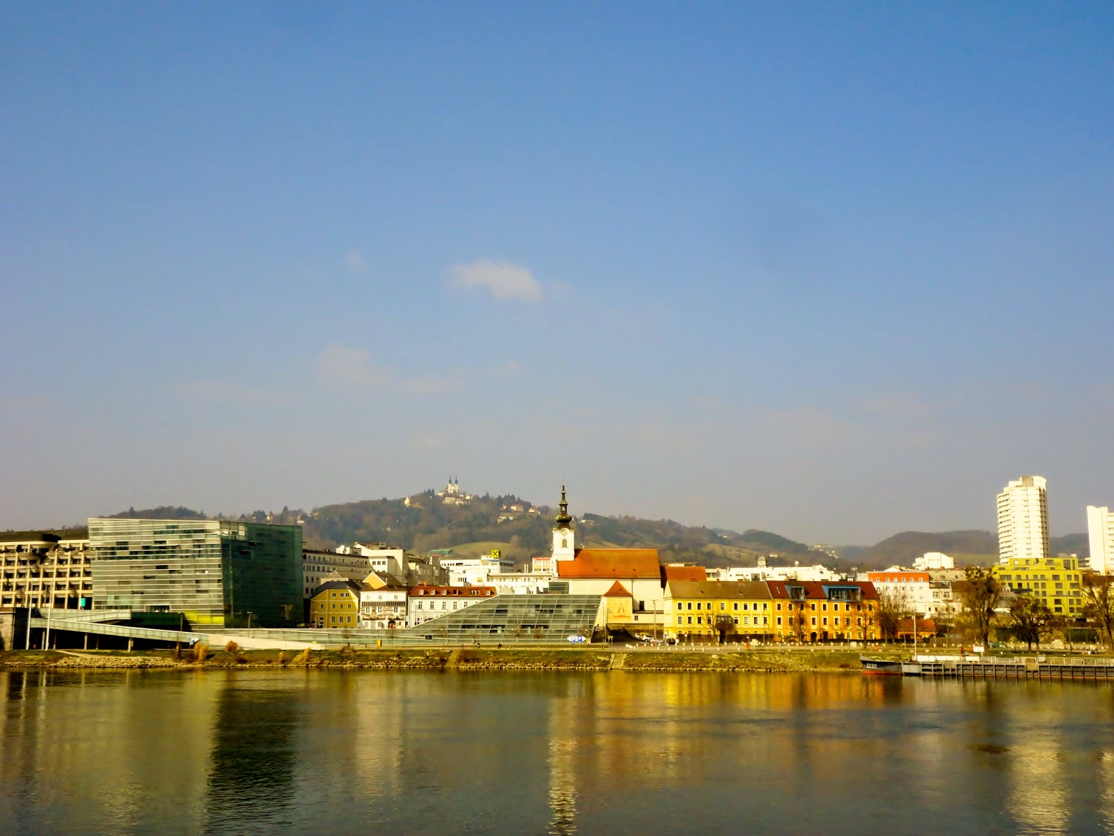 View over the river in Linz, Austria