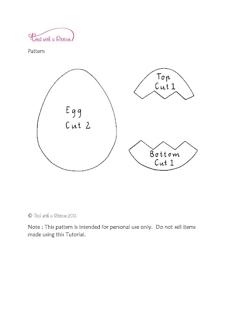 Egg+Pattern+ Tutorial:  Felt Easter Egg