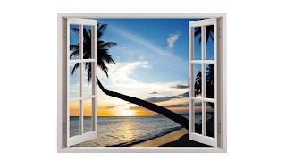 Da minha janela vejo uma praia
