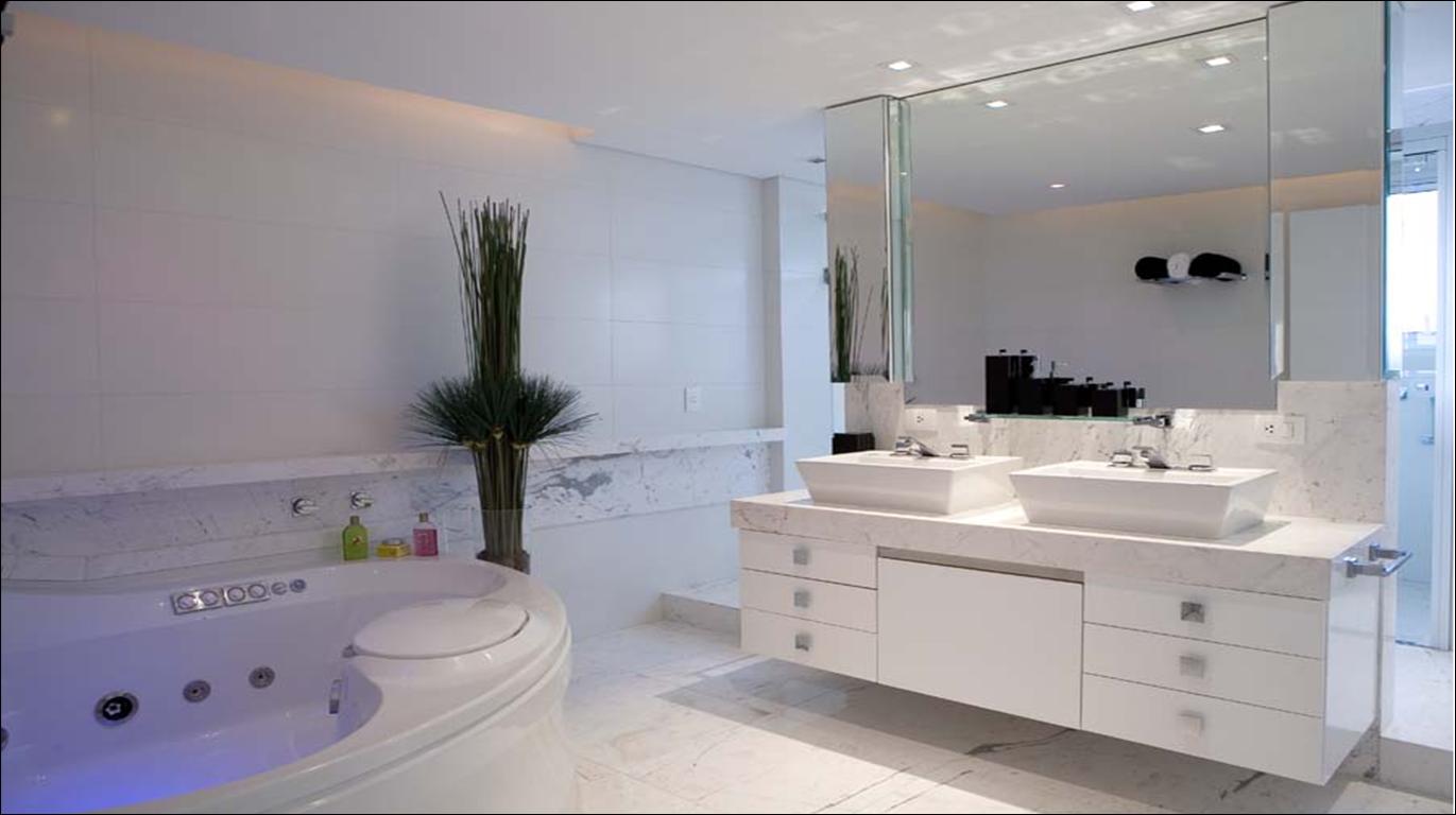BANHEIROS PARA INSPIRAR #51617A 1371x768 Bancada De Banheiro Em Marmore Carrara