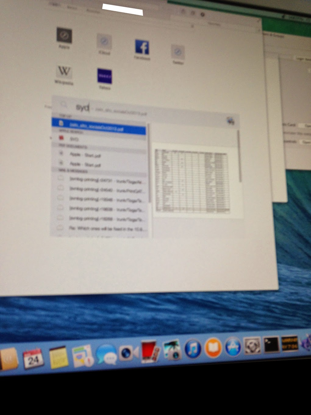 Mac OS X 10.10 Leak Image