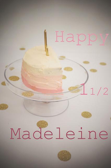meg-made: Happy Half Birthday honey sponge cake GF