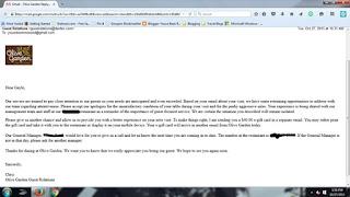 email response screenshot