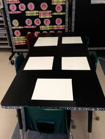 Pre-Primer Word Wall and white board tables