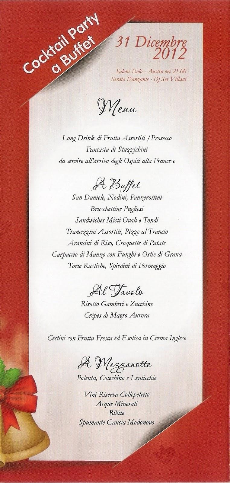 Capodanno 2013 a riva del sole di giovinazzo eventi a bari for Best cocktail party menu