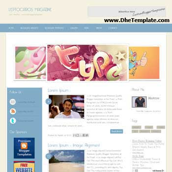 Leptocaros Magazine blogger template. slideshow template blog. pagination for blogger template. magazine style blog template. template blog form wordpress theme