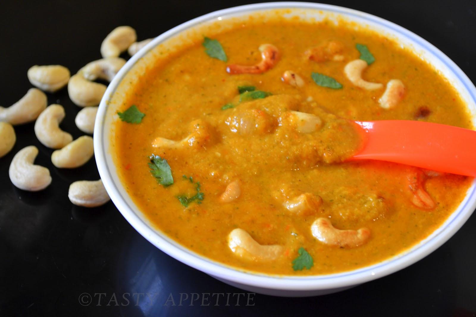 Cashew Masala / Creamy Cashew Curry