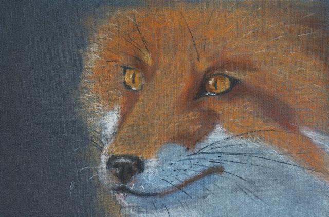 Рисунок и живопись, лиса, лисица.