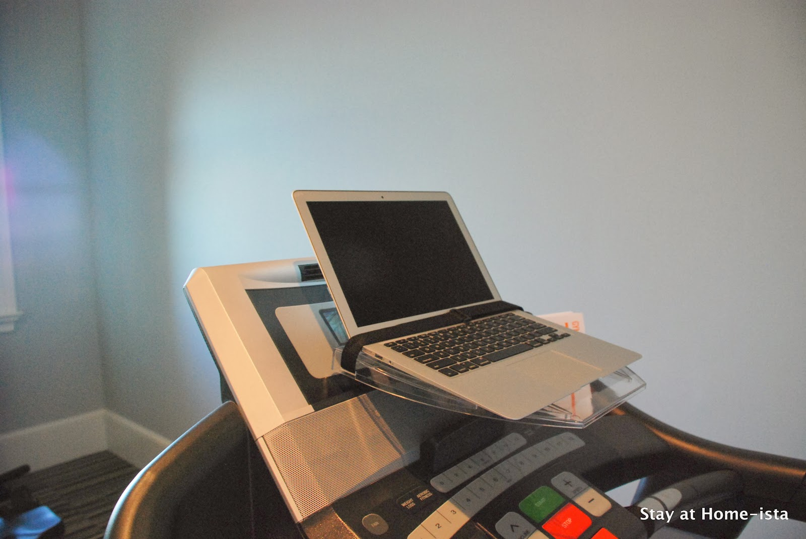 Attach your computer to your treadmill for a makeshift treadmill desk