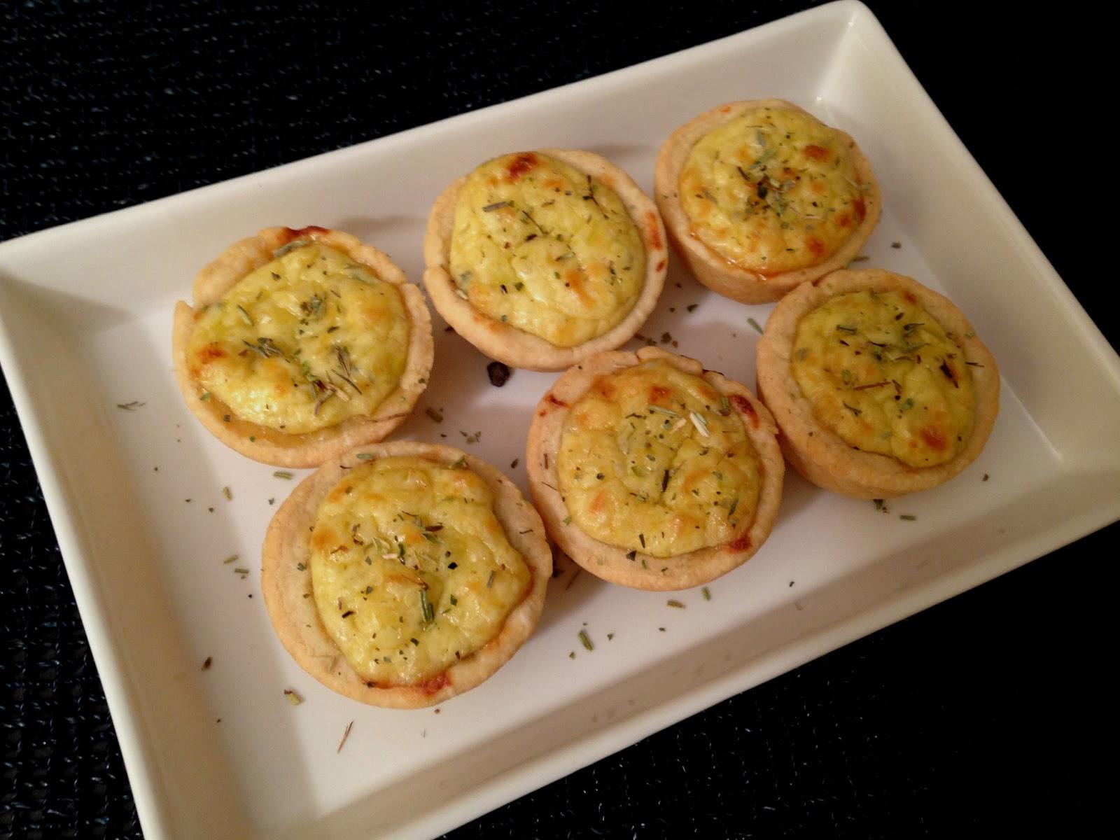 Mini-tartaletas de queso azul