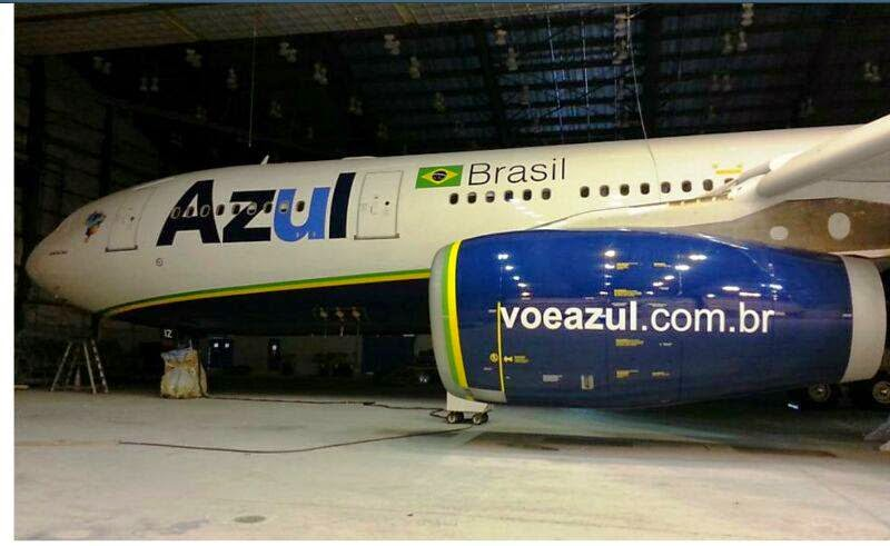 Fotos do primeiro A330-200 da azul linhas aéreas