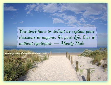 Live without apologies!