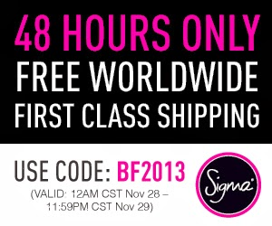 Sigma Beauty Black Friday 2013 Coupon Codes