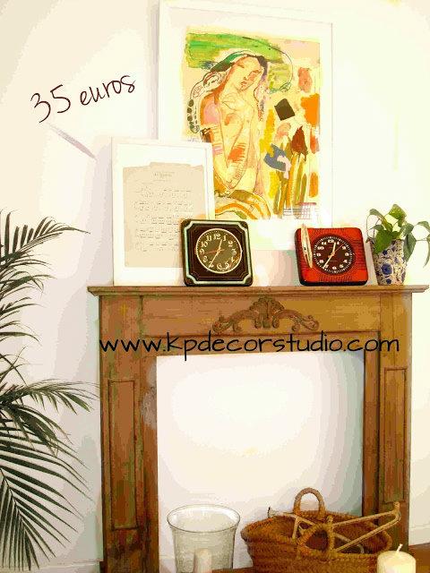 reloj_vintage_años_60_retro_partituras_vintage_muebles_antiguos_capazo_mimbre_revistero_original