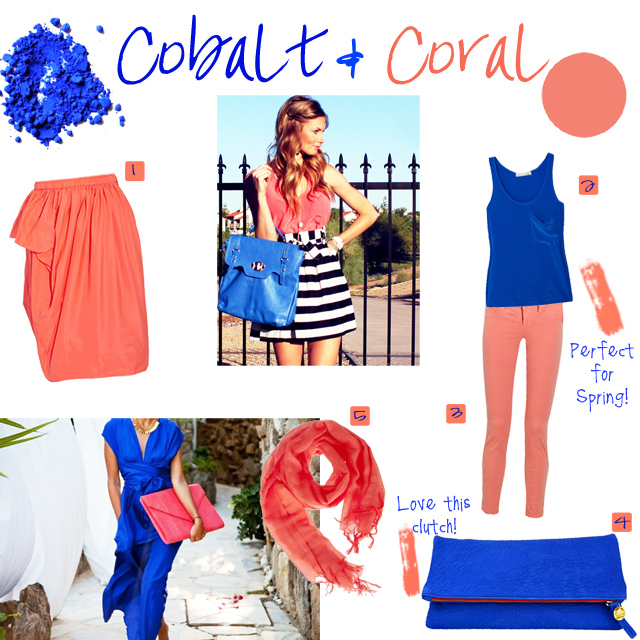 Color Combo Crash Course, Cobalt and Coral