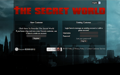The Secret World - Account Register