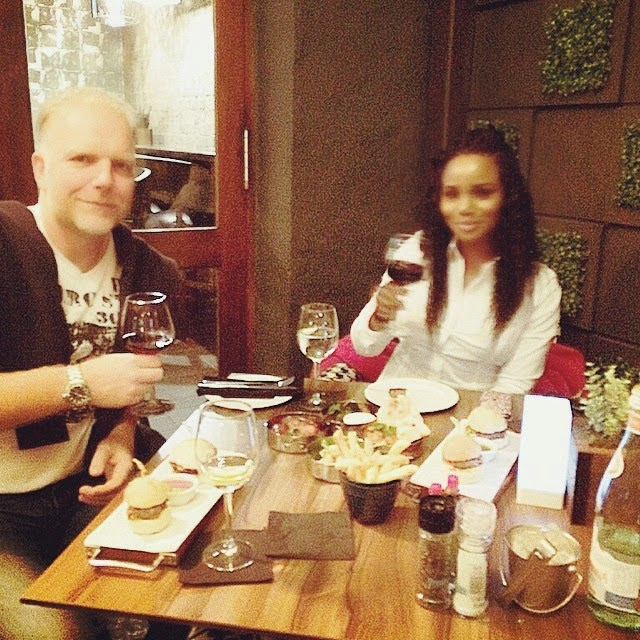 Maheeda would be a year older on the 22nd of November and she went on a dinner date with her husband in South Africa