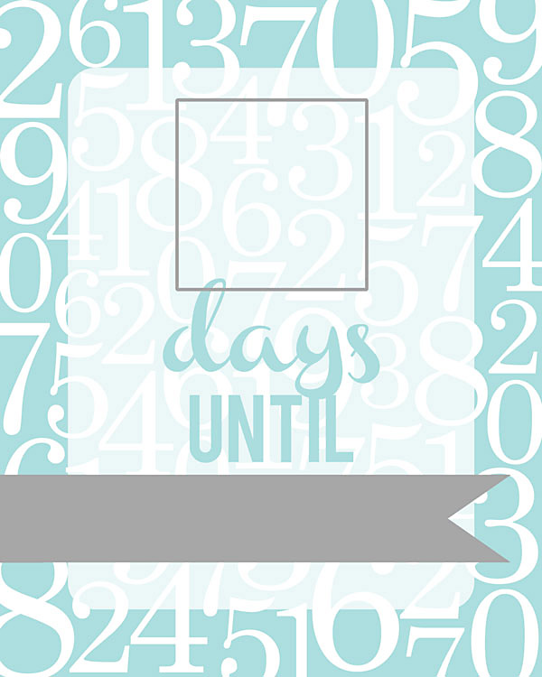 Slobbery image within countdown printable