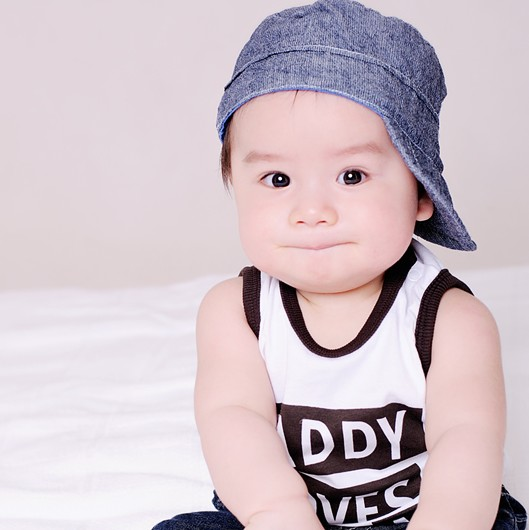 Cute Chinese Baby Boy Stock Free Images