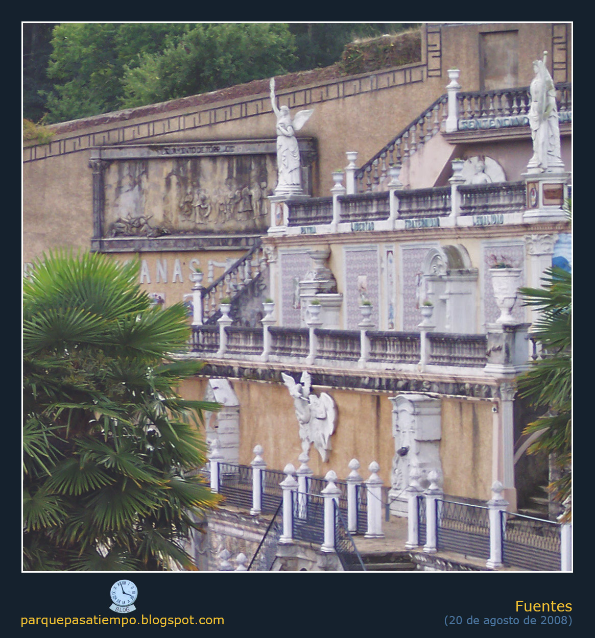 Parque del pasatiempo a 10 fuentes del muro de azulejos for Fuente de los azulejos