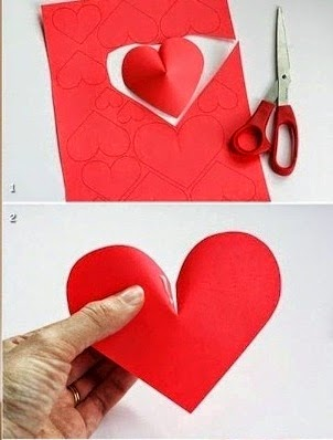 Easy Make a Wall of Paper Hearts 2