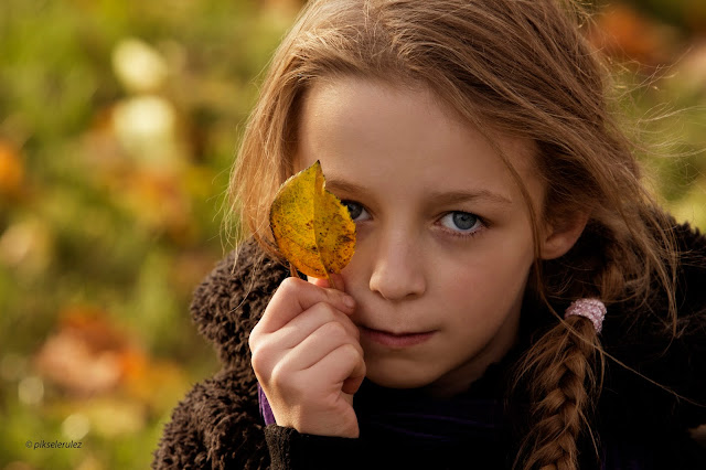 jesień, autumn, portret, portraits, kids, brown, w brązach, polska, agata raszke, długie włosy, long hair, niebieskie oczy, blue eyes