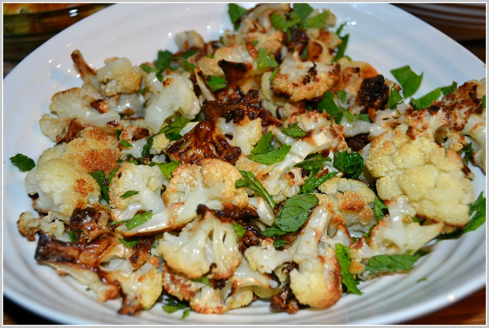Roasted Cauliflower and Mint