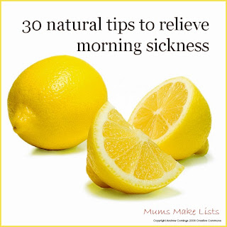 Natural tips for morning sickness